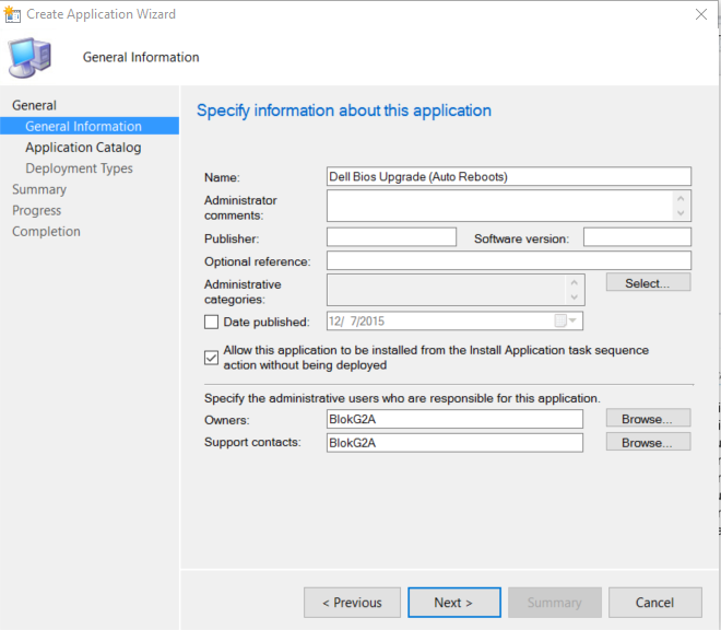Updating Dell Bios with ConfigMgr–Post 3–The Application Deployment