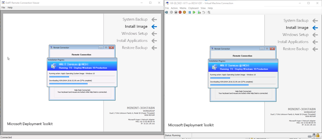 DaRT & VNC Remote during OSD without Integration – GARYTOWN
