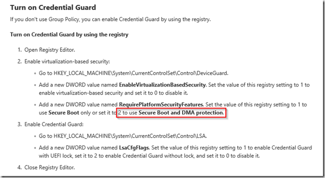 Enable Credential Guard in Windows 10 during OSD w