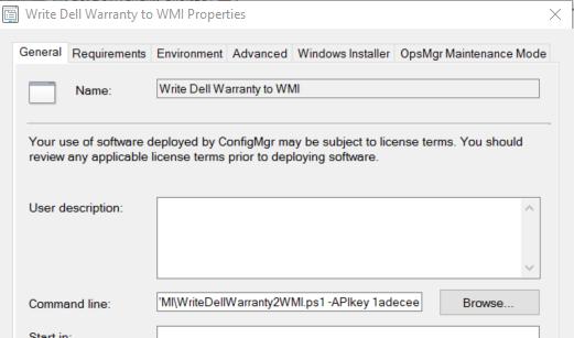 Dell Warranty Reporting via ConfigMgr – Dell Warranty API – GARYTOWN