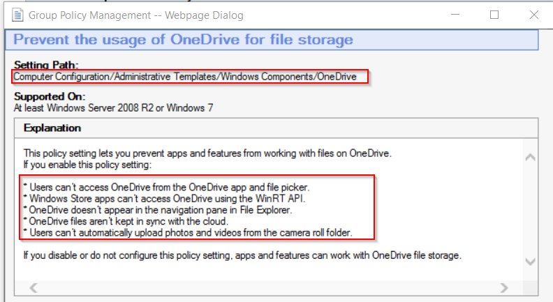 OneDrive Disable / Hide in Windows 10 – GARYTOWN ConfigMgr Blog