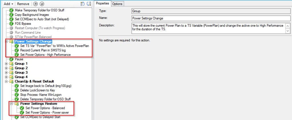 Change and Restore Power Plan during TS – GARYTOWN ConfigMgr