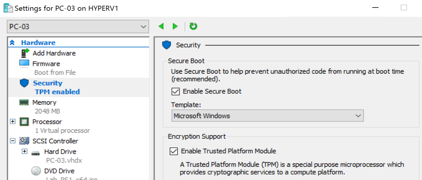 Bitlocker on Hyper-V Virtual Machine – GARYTOWN ConfigMgr Blog