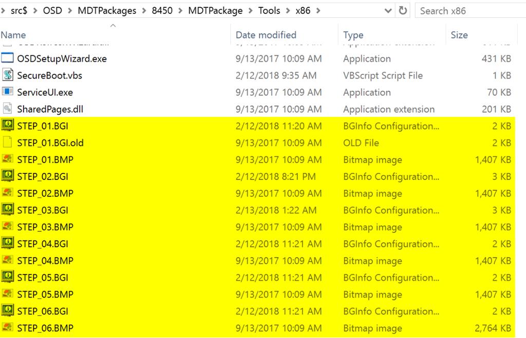 BGinfo Updating MDT Default Templates – GARYTOWN ConfigMgr Blog