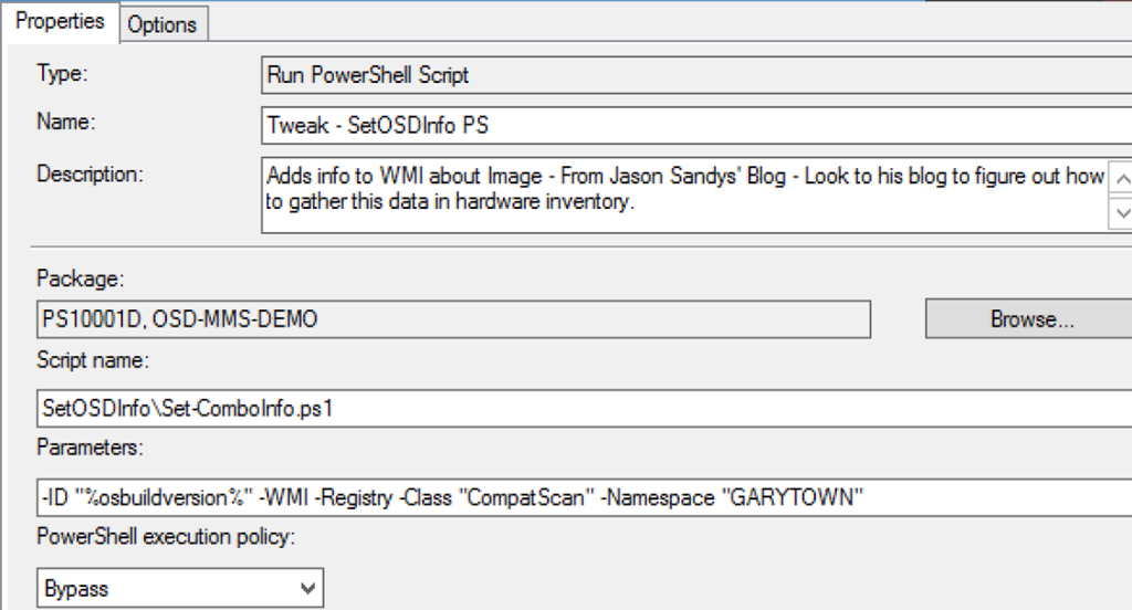Collect OSD / IPU Info with Hardware Inventory – GARYTOWN