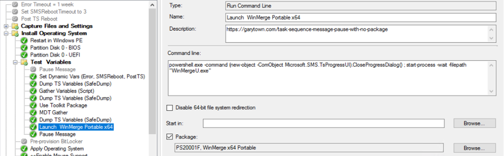 Launch Application during Task Sequence – GARYTOWN ConfigMgr