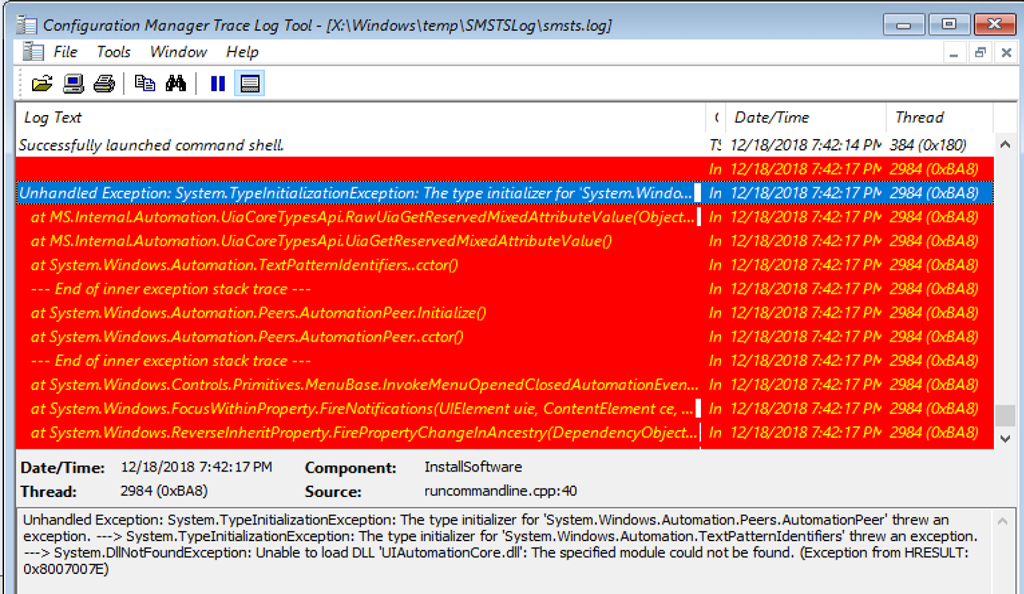 Fix Windows ADK version 1809 issue with crashing WPF