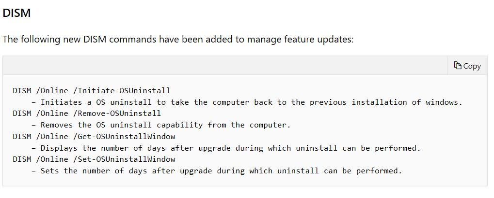 Windows 10 RollBack… I mean OSUninstall – GARYTOWN ConfigMgr