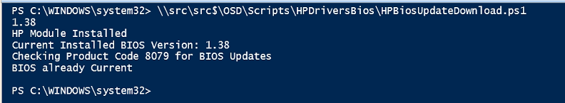Update HP BIOS using PowerShell and Internet Connection – GARYTOWN