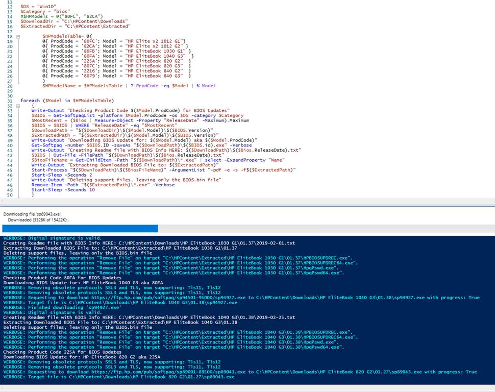 Create HP BIOS Repository using PowerShell – GARYTOWN ConfigMgr Blog