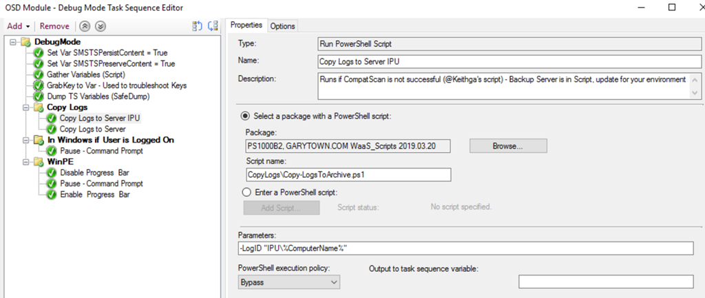 Building a Better Debug Task Sequence – GARYTOWN ConfigMgr Blog